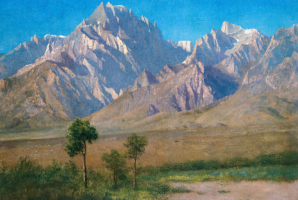American Landscape Art Print featuring the painting Camp Independence Colorado by Albert Bierstadt