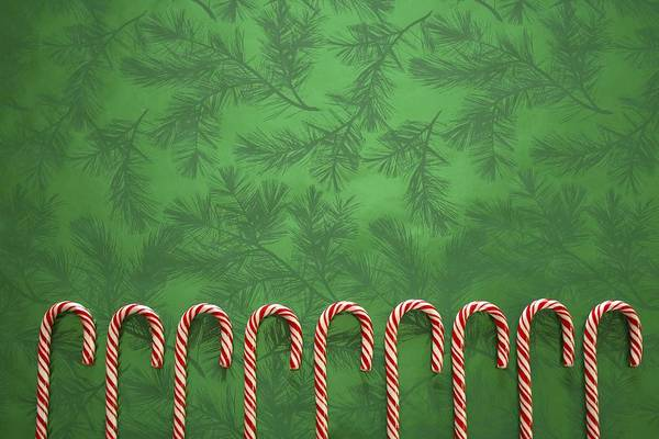 Candy-cane Print featuring the photograph Candy Canes by Colette Scharf