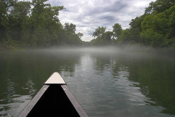 3scape Photos Art Print featuring the photograph Canoeing The Ozarks by Adam Romanowicz