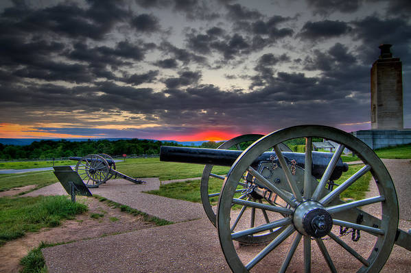 Abraham Art Print featuring the photograph Canon Over Gettysburg by Andres Leon