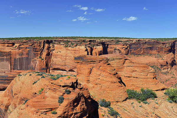 Canyon Print featuring the photograph Canyon De Chelly From Sliding House Overlook by Christine Till