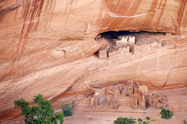 White Art Print featuring the photograph Canyon De Chelly White House Ruins by Christine Till