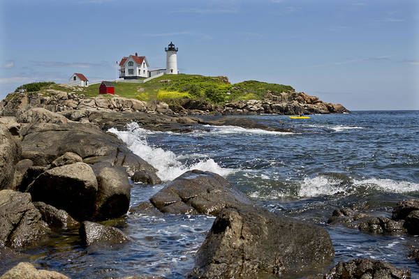Cape Neddick Light Art Print featuring the photograph Cape Neddick 2 by Kevin Colton