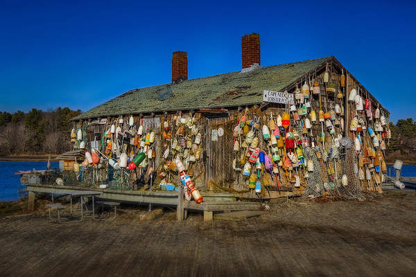 Lobster Buoys Art Print featuring the photograph Cape Neddick Lobster Pound by Susan Candelario