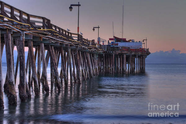 Capitola Art Print featuring the photograph Capitola Wharf At Dusk by Morgan Wright