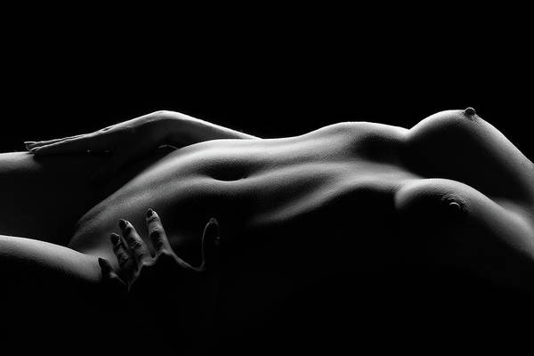 Bodyscape Art Print featuring the photograph Caressed By Light (i) by Burkhard Achtergarde