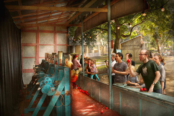 Americana Art Print featuring the photograph Carnival - Game - A Game Of Skill by Mike Savad