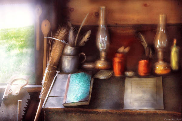 Savad Art Print featuring the photograph Carpenter - In A Carpenter's Workshop by Mike Savad