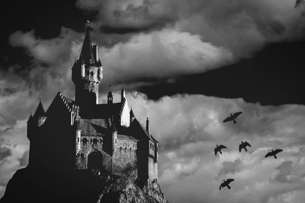 Building Art Print featuring the photograph Castle In The Sky by Bob Orsillo