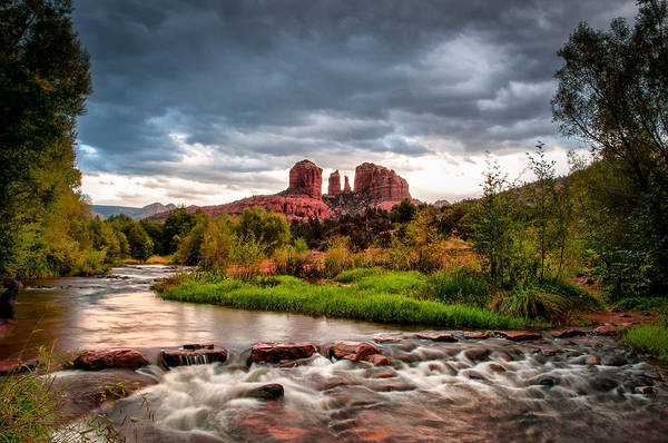Cathedral Crossing Art Print featuring the photograph Cathedral Crossing Red Rock by Linda Pulvermacher