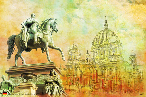 Museum Art Print featuring the painting Cathedral De Berlin by Catf