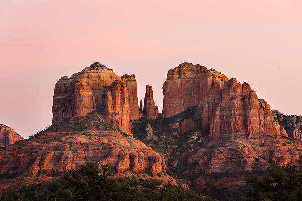 Sedona Print featuring the photograph Cathedral Rock Sunset by Mary Jo Allen