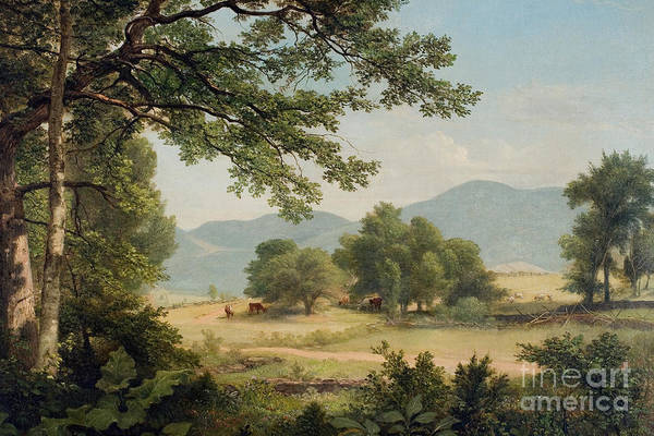 Catskill Print featuring the painting Catskill Meadows In Summer by Asher Brown Durand