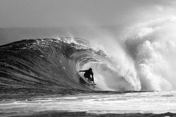 Surf Print featuring the photograph Caveman by Paul Topp