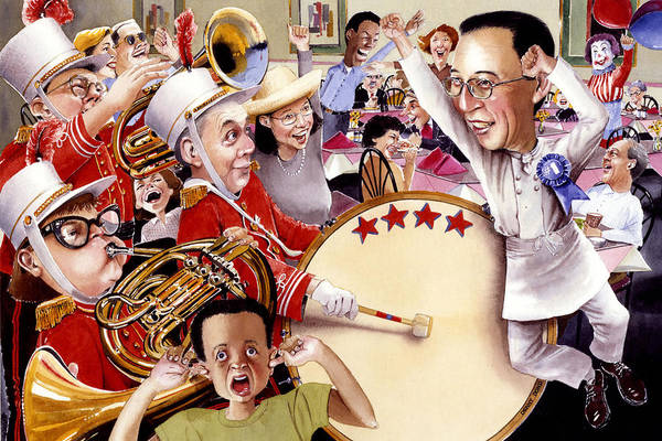 Band Art Print featuring the painting Celebrate by Denny Bond