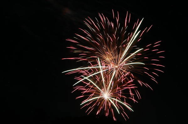 Fireworks Art Print featuring the photograph Celebration Xxi by Pablo Rosales