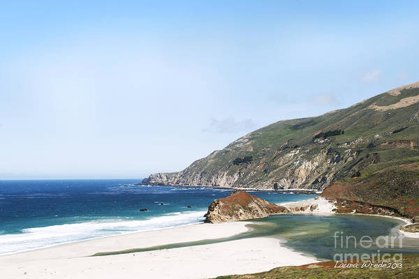 Big Sur Art Print featuring the photograph Central Coast Beach Near Cambria And San Simeon by Artist and Photographer Laura Wrede