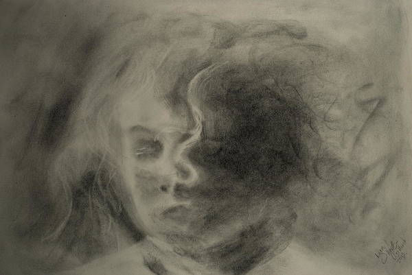 Charcoal Art Print featuring the drawing Charcoal Study by Lynn Hughes
