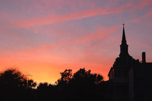 Charleston Art Print featuring the photograph Charleston At Dusk by Suzanne Gaff