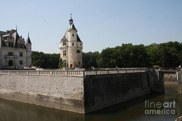 Castle Art Print featuring the photograph Chateau And Moat Chenonceau by Christiane Schulze Art And Photography