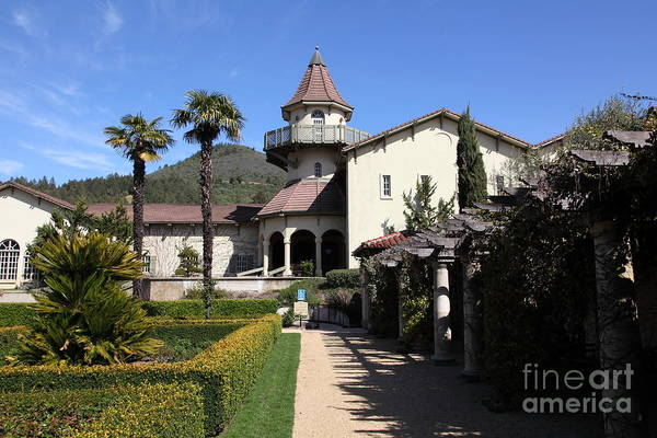 Sonoma Art Print featuring the photograph Chateau St. Jean Winery 5d22199 by Wingsdomain Art and Photography
