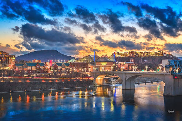 Chattanooga Art Print featuring the photograph Chattanooga Evening After The Storm by Steven Llorca