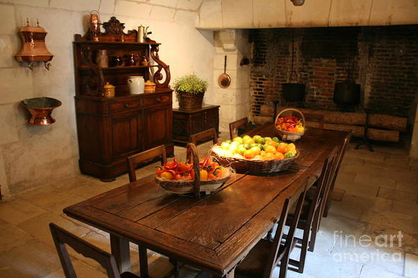 Kitchen Art Print featuring the photograph Chenonceau Kitchen by Christiane Schulze Art And Photography
