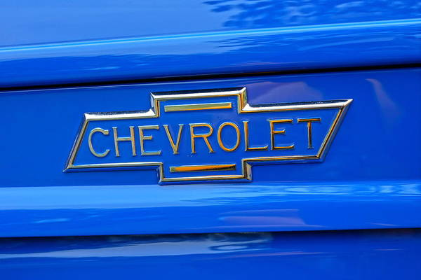Chevrolet Art Print featuring the photograph Chevrolet Emblem by Alan Hutchins