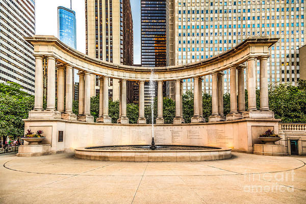 America Art Print featuring the photograph Chicago Millennium Monument In Wrigley Square by Paul Velgos