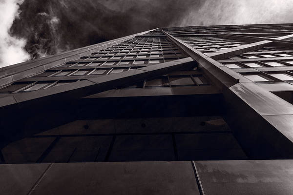 Chicago Art Print featuring the photograph Chicago Structure Bw by Steve Gadomski
