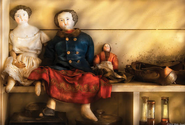 Savad Art Print featuring the photograph Children - Toys - Assorted Dolls by Mike Savad
