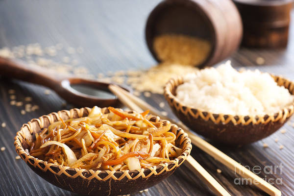 Appetizer Art Print featuring the photograph Chinese Food by Mythja Photography