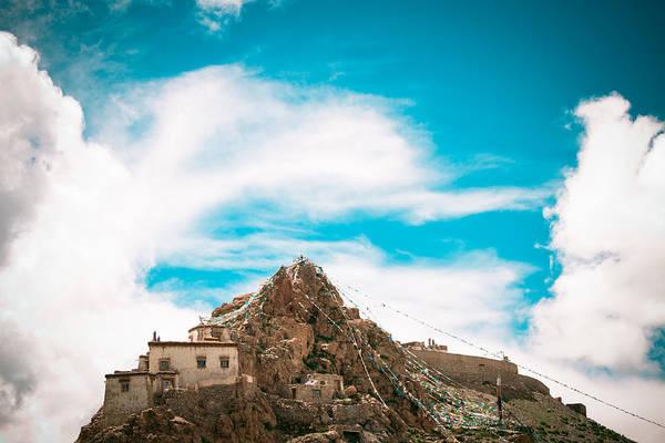 Landscape Art Print featuring the photograph Chiu Monastery Near Lake Manosarovar by Raimond Klavins