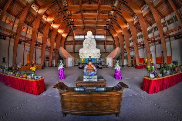 Budda Art Print featuring the photograph Chuang Yen Buddhist Monastery by Susan Candelario