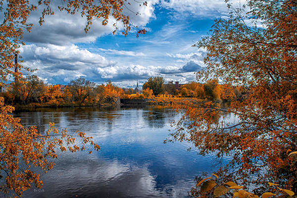 River Art Print featuring the photograph Church Across The River by Bob Orsillo