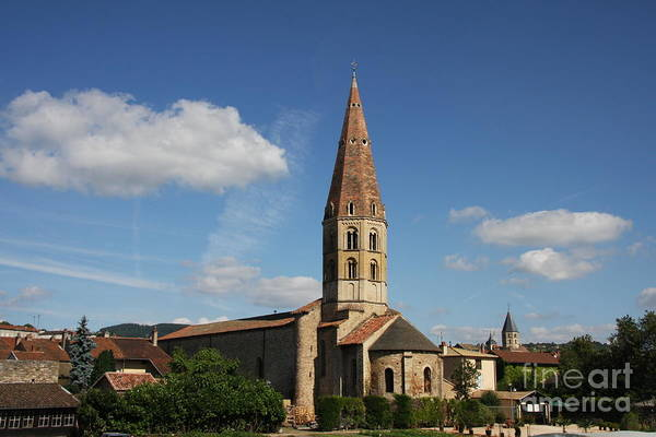 Church Art Print featuring the photograph Church Saint Marcel - Cluny by Christiane Schulze Art And Photography