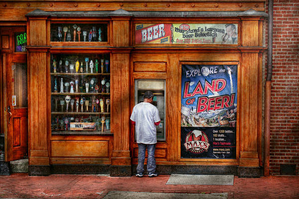 Baltimore Art Print featuring the photograph City - Baltimore Md - Explore The Land Of Beer by Mike Savad