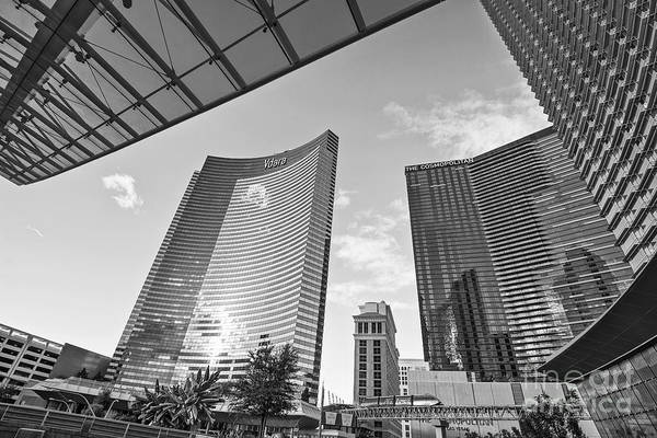 Vdara Hotel And Spa Print featuring the photograph Citycenter - View Of The Vdara Hotel And Spa Located In Citycenter In Las Vegas by Jamie Pham