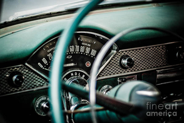 Car Art Print featuring the photograph Classic Interior by Jt PhotoDesign