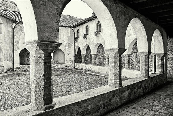 Architecture Art Print featuring the photograph Cloister by Roberto Pagani