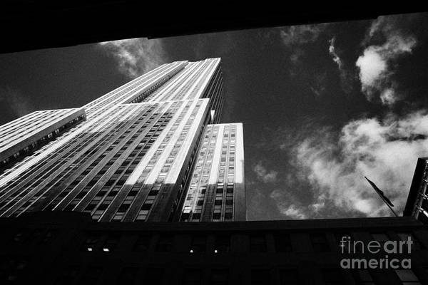 Usa Art Print featuring the photograph Close In Shot Of The Empire State Building New York City by Joe Fox