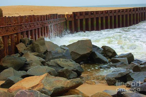 Water Art Print featuring the photograph Coast Of Carolina by Debbi Granruth