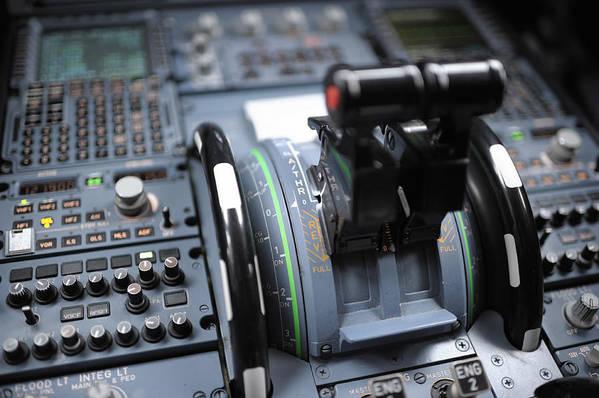 Cockpit Detail Airbus A320 Art Print