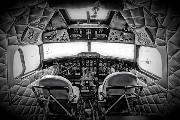 Restoration Art Print featuring the photograph cockpit of a DC3 Dakota by Paul Fell