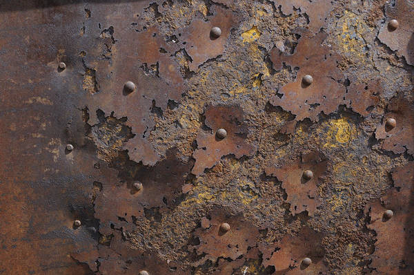 Iron Art Print featuring the photograph Color Of Steel 2 by Fran Riley