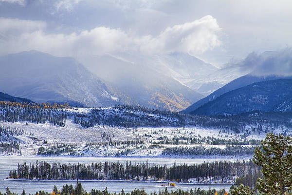 Snow Print featuring the photograph Colorado Rocky Mountain Autumn Storm by James BO Insogna