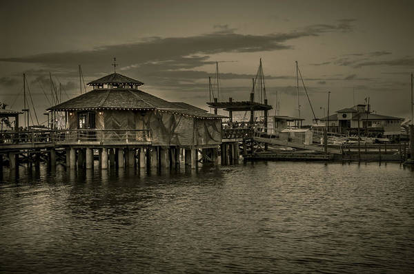 B&w Print featuring the photograph Conch House Marina by Mario Celzner