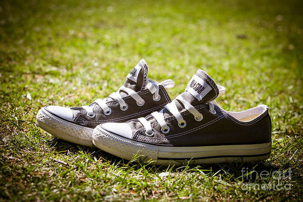 Abandoned Art Print featuring the photograph Converse Pumps by Jane Rix