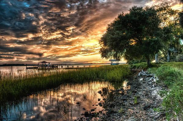 Clouds Art Print featuring the photograph Coosaw Plantation Sunset by Scott Hansen