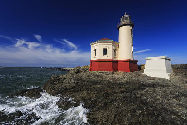 Bandon Art Print featuring the photograph Coquille River Lighthouse 3 by Mark Kiver